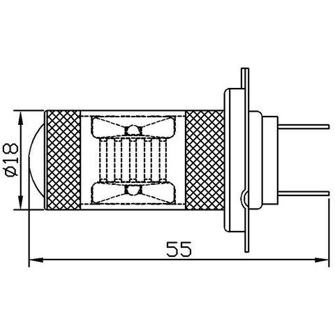 Протитуманна LED лампа UP-7G-H7WB-30W (біла, 12-24 В) Прев'ю 1