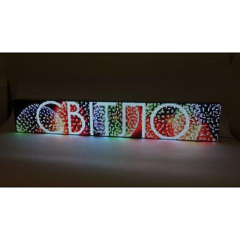 RGB LED-дисплей для реклами 960 мм × 160 мм, (192 × 32 точок), IP20 Прев'ю 8