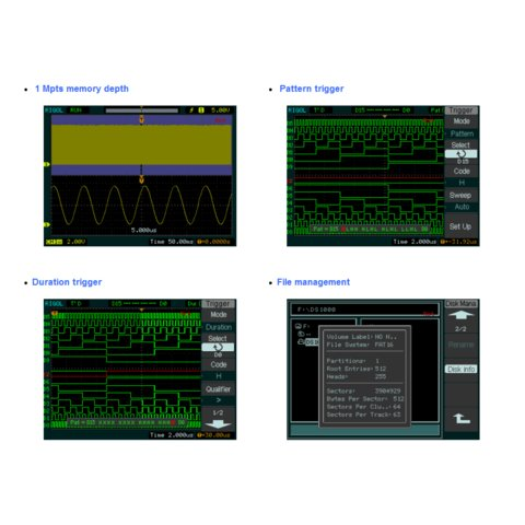 Цифровой осциллограф смешанных сигналов RIGOL DS1052D - Просмотр 5