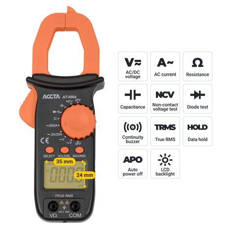 Digital Clamp Meter Accta AT-600A Preview 2